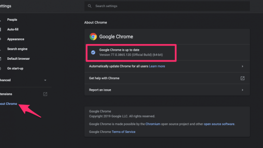About Chrome Update on Computer