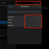 Add Credit Card Details in Safari Settings