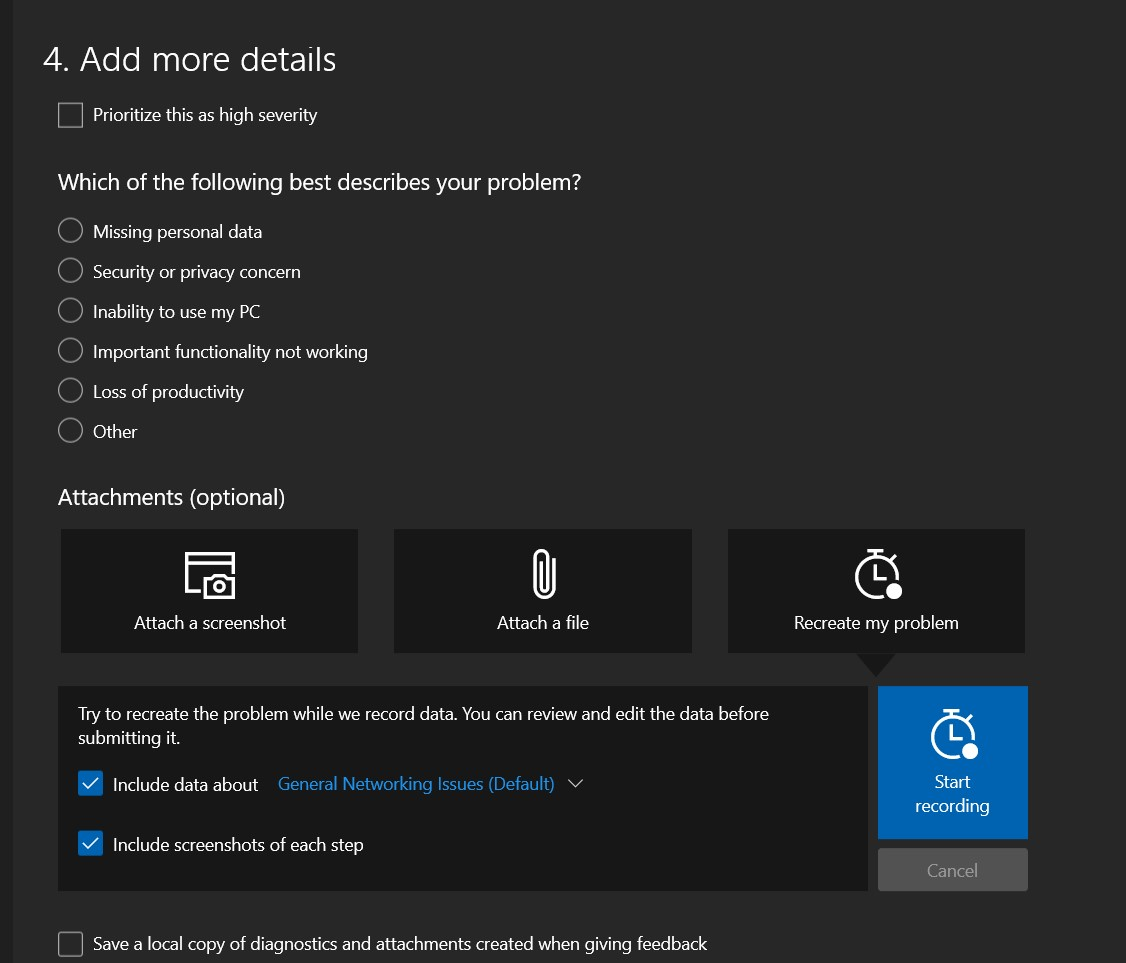 Add more details in Bug Report for Edge browser