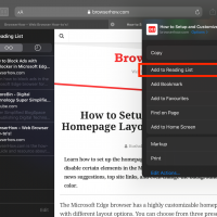Add to Reading list for Offline access in Safari on iOS