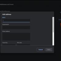 Add address details in Chrome Computer