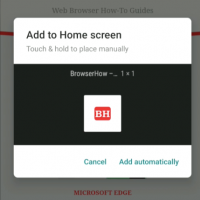 Add to Home screen automatically Chrome Android