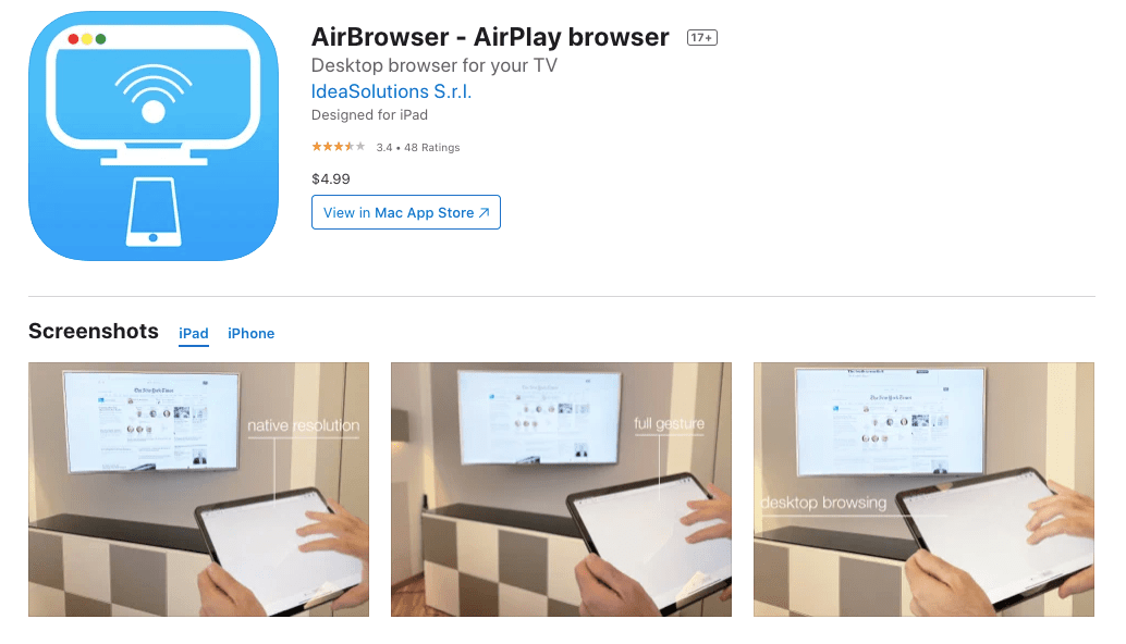 AirBrowser - AirPlay browser on the AppStore