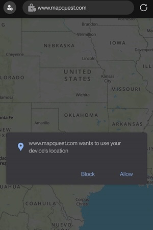Allow or Block the Location access on Edge Android browser