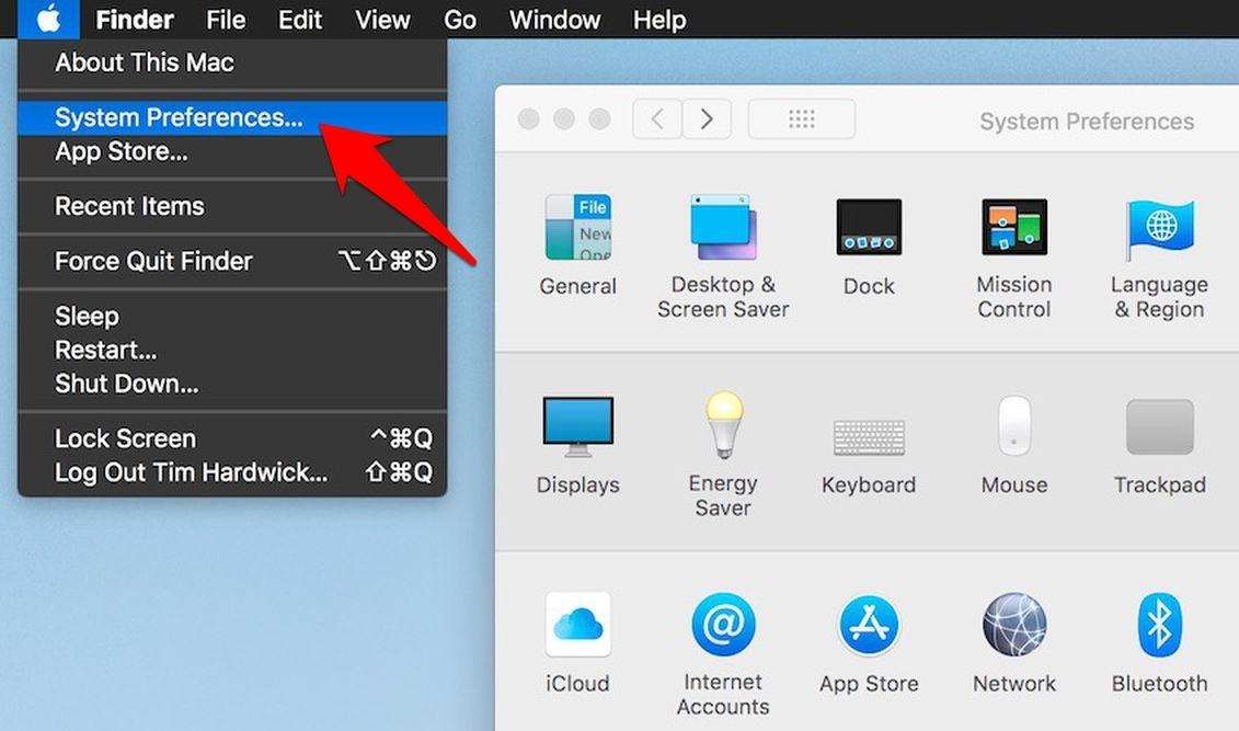 Apple Mac System Preferences option