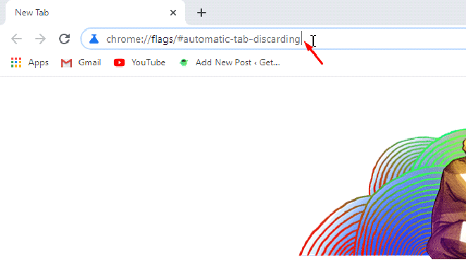 Automatic tab discarding chrome flags URL