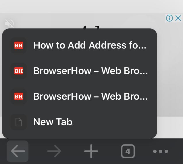 Backward Navigation in Chrome iPhone