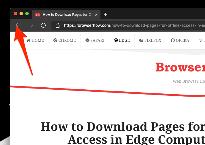 Backward Navigation in Edge Computer