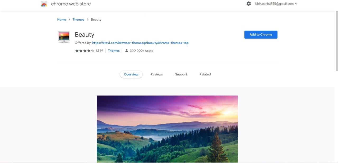 Beauty chrome browser theme extension