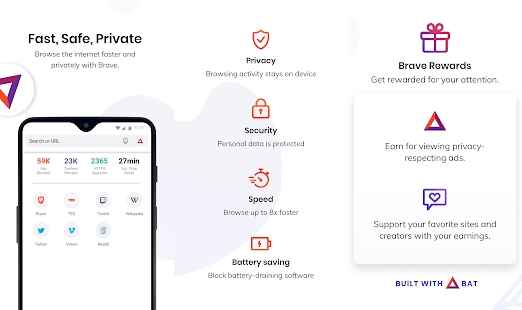 Brave Browser for Android Features