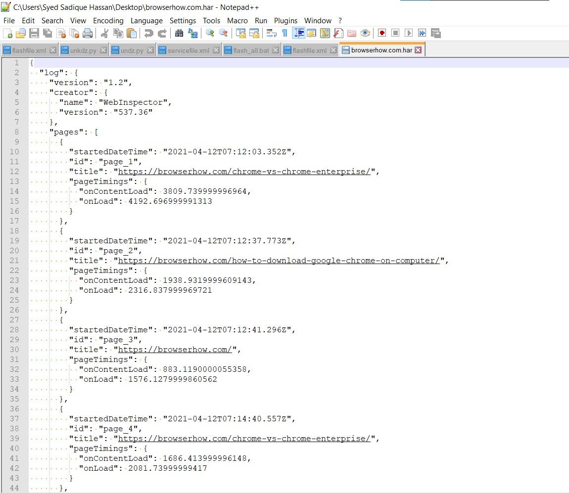 BrowserHow.com Generate HAR file