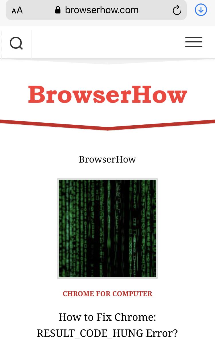 BrowserHow homepage on Safari iPhone