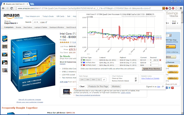 Camelizer Price Tracker and Saving Extension