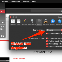 Change Search Engine on Apple Safari Preferences