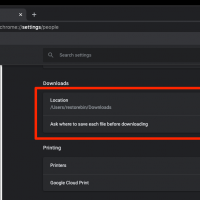 Change the Downloads location in chrome computer