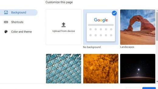 Choosing Background Image for Chrome Browser