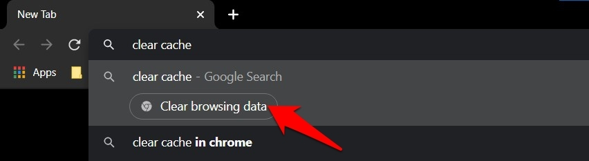 Chrome Action to Clear Browsing Data