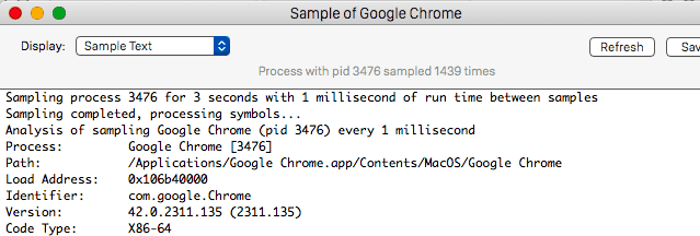 Chrome Activity Sample in MacOS