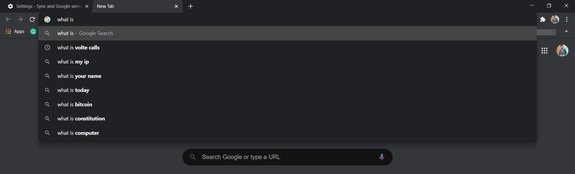 Chrome Autofill Address Search Bar