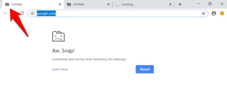 Chrome Crashing as Untitled Error