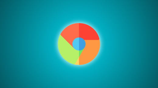Chrome Logo with Aqua Gradient background