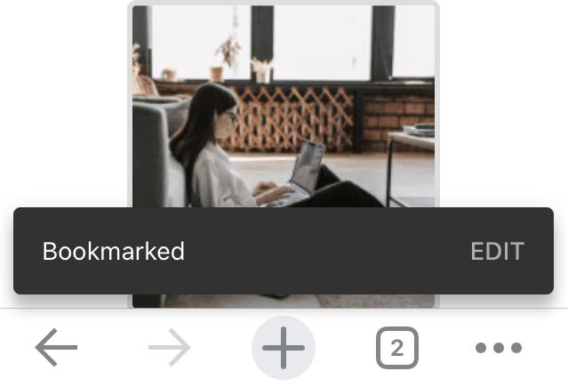 Chrome iOS Webpage Bookmarked