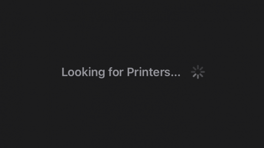 Chrome iOS looking for printer