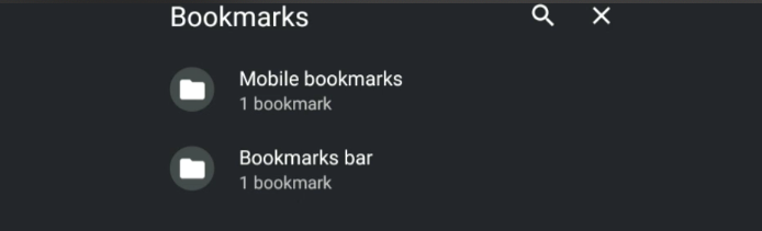 Chrome Android Mobile Bookmarks Bar