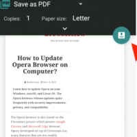 Chrome Android Save as PDF and Print Preview
