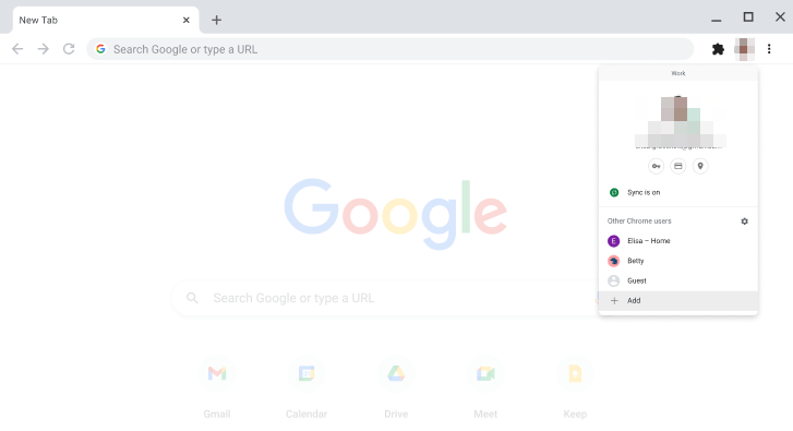 Chrome Enterprise Sign-in and User Profile