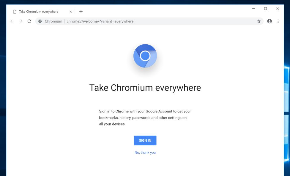 Chromium Browser on Windows PC