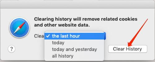 Clear History from Safari browser
