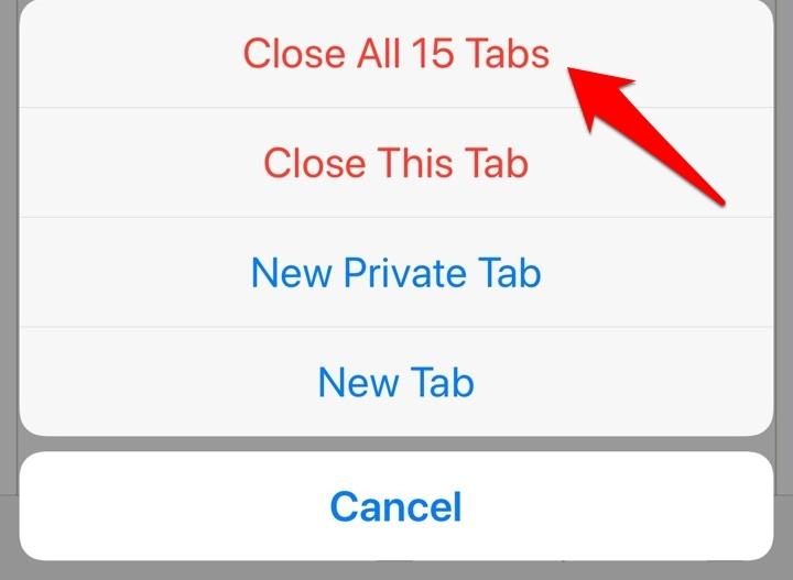 Close Tabs in iPhone Safari browser