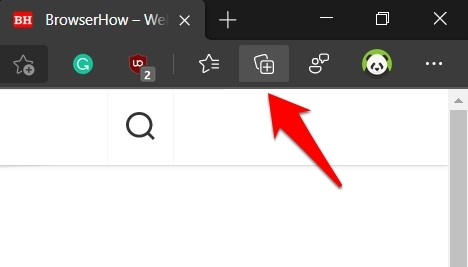 Collections icon in Microsoft Edge