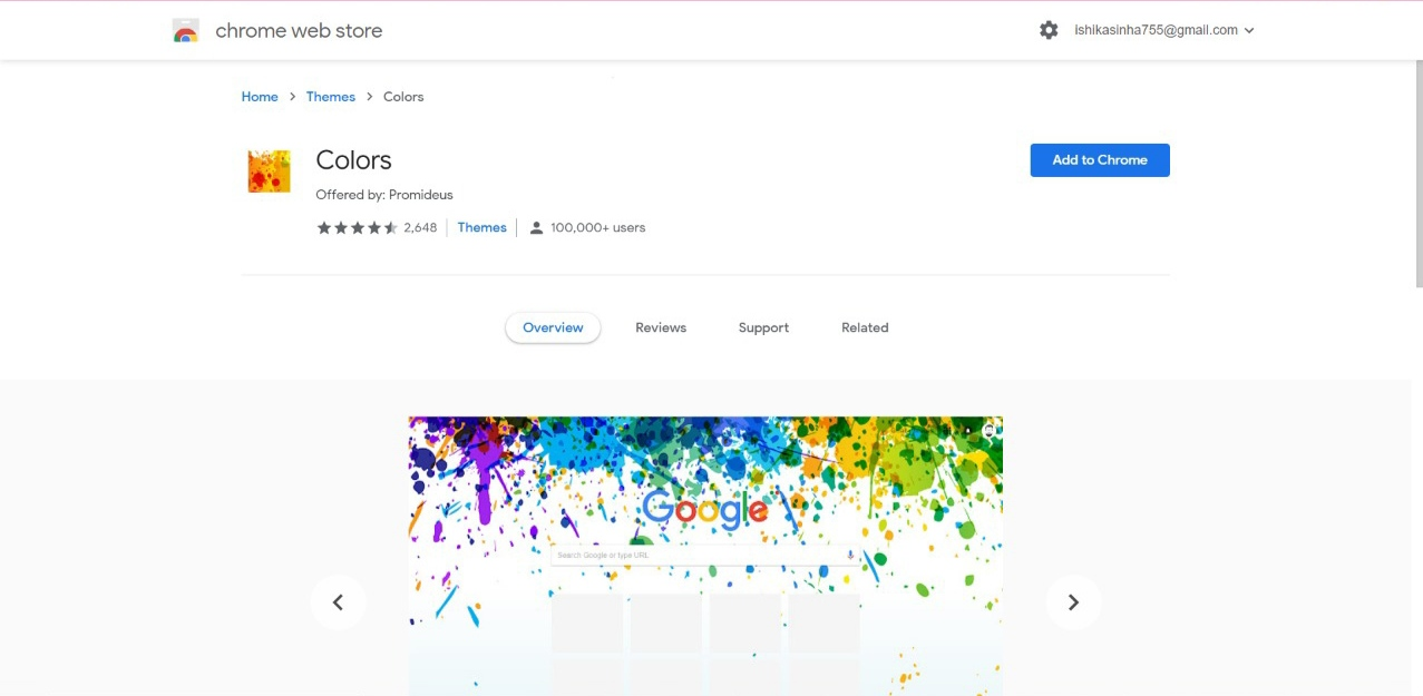 Colors Chrome Theme for Browser