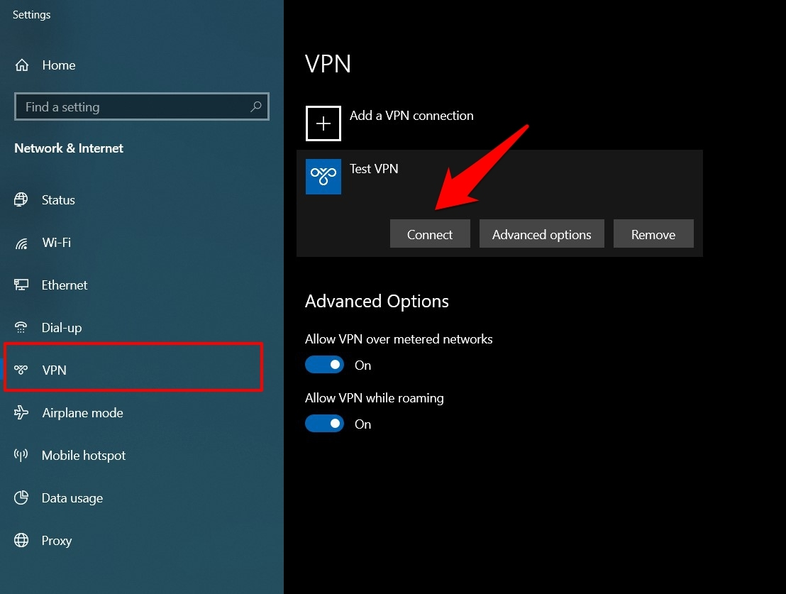 Connect VPN on Computer
