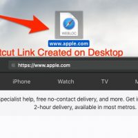 Create Apple Safari Page URL Shortcut Link