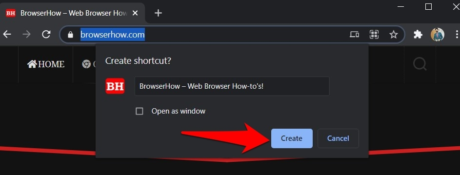 Create a Shortcut on Chrome Computer