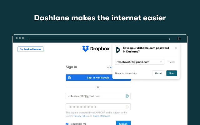 Dashlane Password Manager Browser Extension