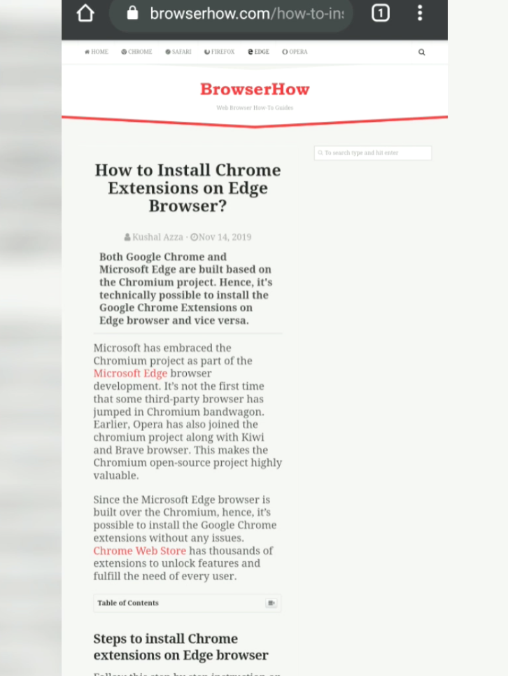 Desktop Site View of BrowserHow on Chrome Android