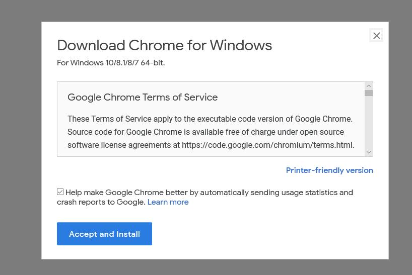 Download Chrome for Windows 10/8.1/8/7 64-bit