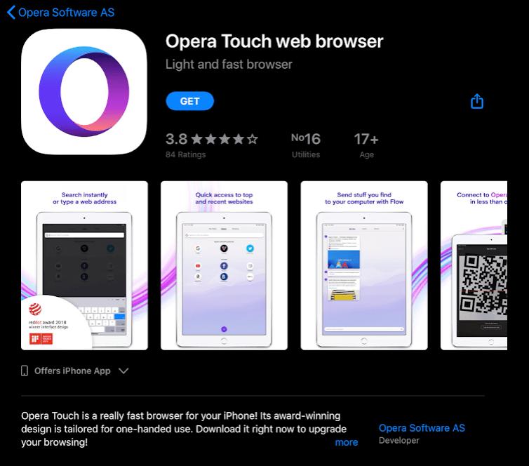Download Opera for iPadOS