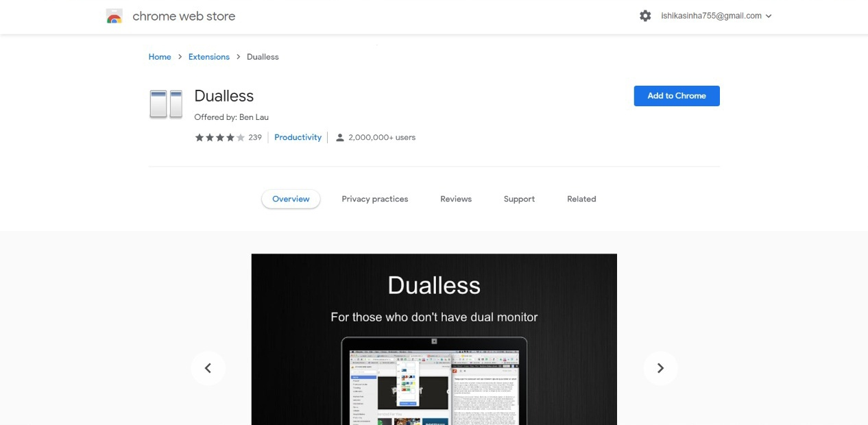 Dualless Chrome Extension