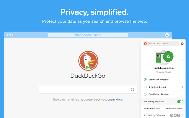 DuckDuckGo Browsing and Extension for Privacy Protection