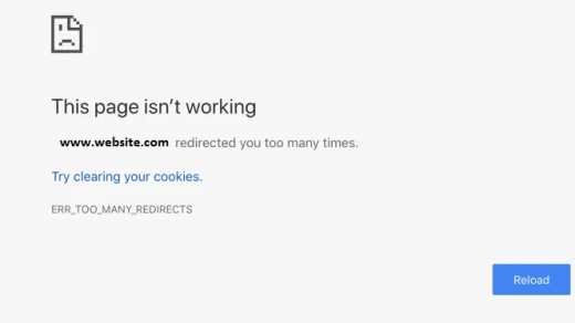 ERR_TOO_MANY_REDIRECTS Chrome Error