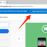 Edge Browser Allow extensions from other stores