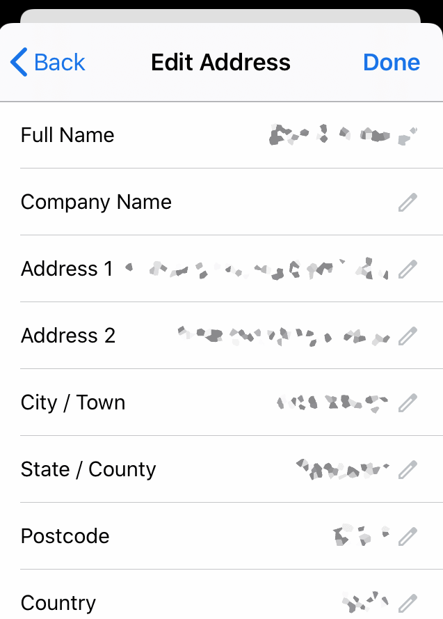 Edit Address Fields and Data in Chrome iOS