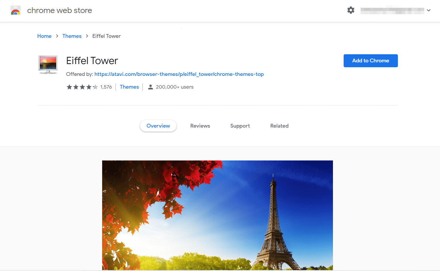 Eiffel Tower Chrome Theme