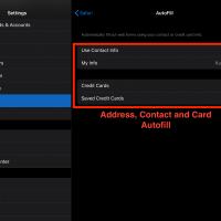Enable Autofill for Card and Contact Address