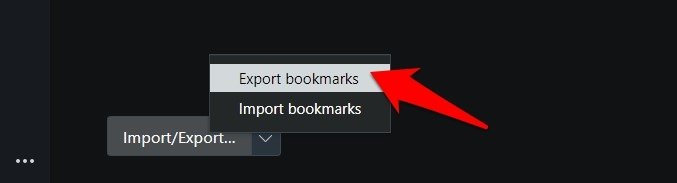 Export Bookmarks from Opera browser